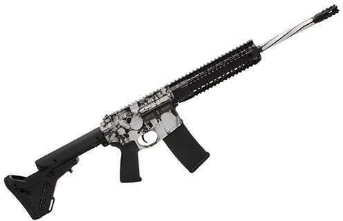 "Black Rain Ordnance Silver Skulls 5.56mm NATO 16"" Barrel 30 Round Magpul UBR Semi Automatic Rifle    BRO-PG3"