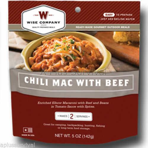 Wise Foods Wise Chili Macaroni 6 oz Freeze Dried Food 03307