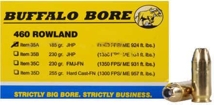 Buffalo Bore Ammunition 460 Rowland 185 Grains JHP (Per 20) 35A/20