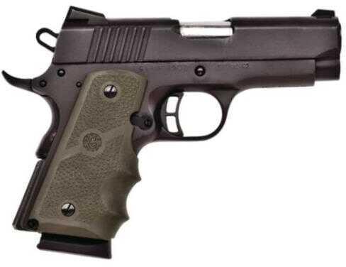 "Citadel 1911-A1 45 ACP 3.5"" Barrel Hogue Green One Piece Grip Matte Black Finish Semi Automatic Pistol CIT45CSPHGRN"