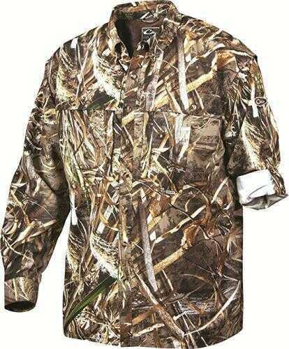 Drake Waterfowl Long Sleeve Wingshooter Shirt Max-5 Medium