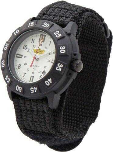 UZI Protector Tritium Watch With White Face Nylon Strap