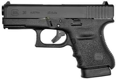 "Pistol Glock 36FGR 45 ACP Fixed Sighs 3.78"" Barrel 6 Rounds Matte black metal finish"