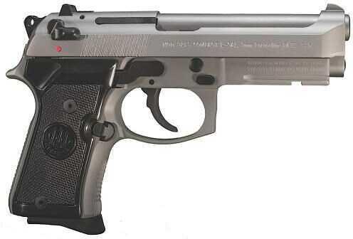 """Pistol Beretta J90C9F27 92FS 9MM 4.25"""" Barrel 13rds 2 Magazines Compact INOX"""