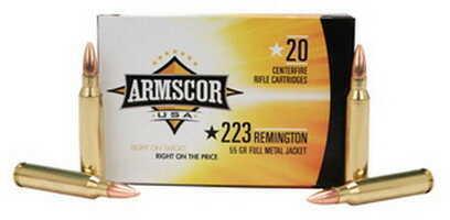 Armscor Precision Inc Ammo 223 Rem 55Gr Full Metal Jacket 20 Rounds Ammunition 50162