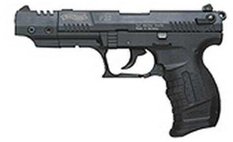 "Walther P22 Series Pistol 22 Long Rifle Black Target 5"" Barrel SA/DA 10 Round 3 Dot Sight Semi Automatic Pistol QAP22005"