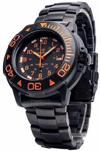 Smith & Wesson Swiss Tritium Diver Watch - Black/Orange