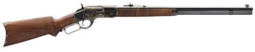 "Winchester Model 1873 Sporter Lever Action Rifle 44-40 Winchester 14 Round 24"" Blued Octagon Barrel Pistol Grip Color Case Hardened"