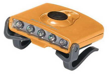 Brunton Hatclip Task Light, 3 White LED/2 Green LED Orange F-CLIP-O