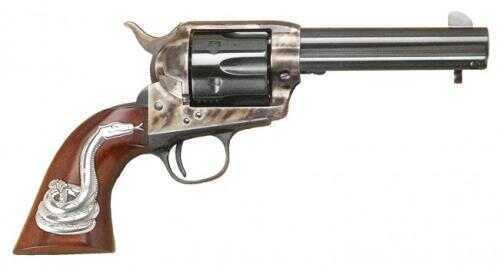 """Cimarron Man With No Shame Single Action .45 Colt 4.75"""" Barrel Case Hardened Pre-War, Standard Blue Finish Revolver Md: PP410SSI01"""