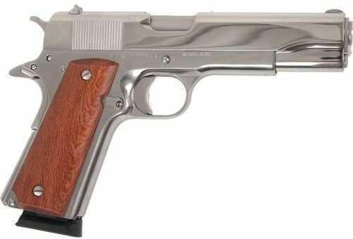 Rock Island Armory Semi-Auto Pistol M1911A1 GI 45ACP 5 NKL/RBR MATTE NICKEL | RUBBER GRIPS 45 ACP Ba