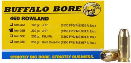 Buffalo Bore Ammunition 460 Rowland 230 Gr JHP (Per 20) 35B/20