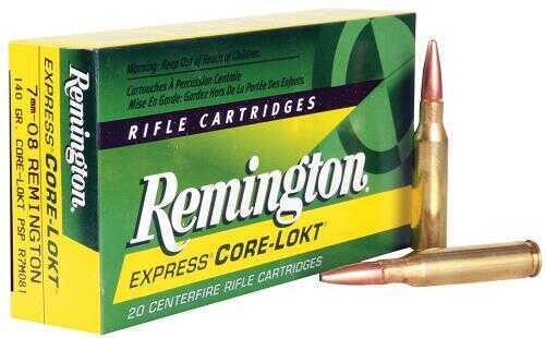 Remington 7mm-08 by 7mm-08 Remington, 140 Grain, Pointed Soft Point Core-Lokt (Per 20) 21337-R7M081