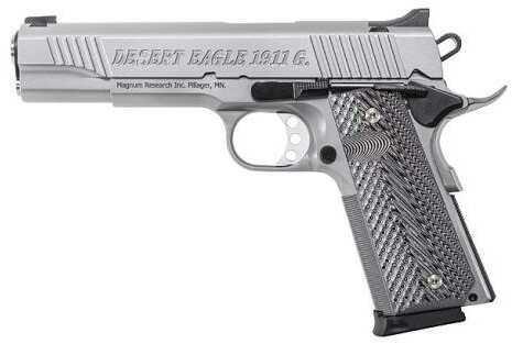 "Magnum Research 1911G 45 ACP Stainless Steel 5"" Barrel G10 Grip Semi Automatic Pistol DE1911GSS"