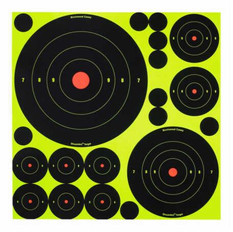 "Birchwood Casey ShootNC 1"",2"",3"",6"" & 8"" Assortment Per 100 34077"