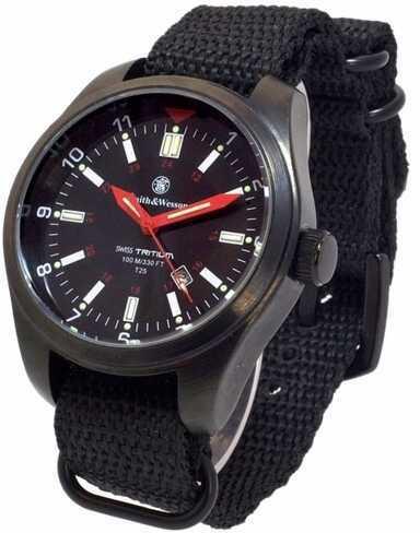 Smith & Wesson S&W Military Tritium Watch With 3 Interchange Straps