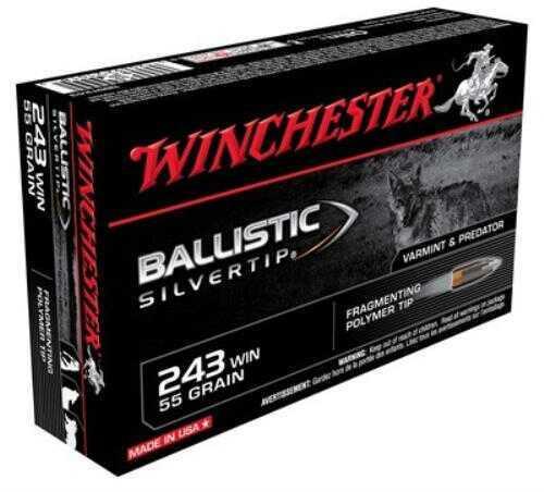 Winchester Supreme 243 55 Gr Ballistic Silvertip 20 Rds Ammunition SBST243
