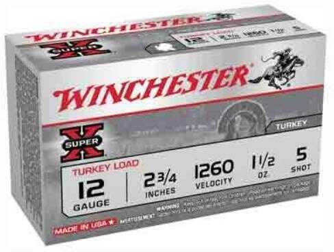 "Winchester Super-X Turkey 12Ga #5 2 3/4"" 1.5Oz Copper 10 Rds Ammunition X12MT5"