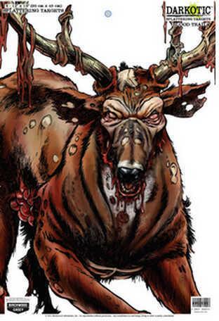 "Birchwood Casey Darkotic 12""x18"" Targets, 50 Pack Blood Trail 35637"