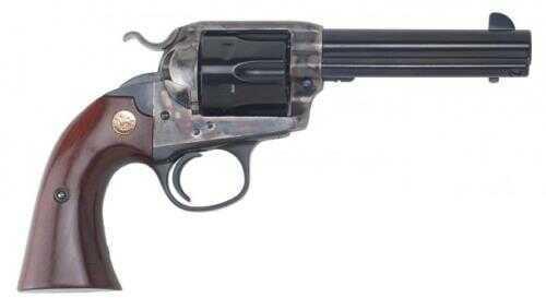 "Cimarron Bisley Model Revolver .45 Colt 4.75"" Barrel Case Hardened 2-Piece Walnut Grip Standard Blue Finish CA612"