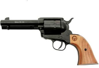 "Chiappa Firearms Revolver 1873-22 Revovler  22LR 4.75"" Blued  Barrel  Wood Grip     340.053"