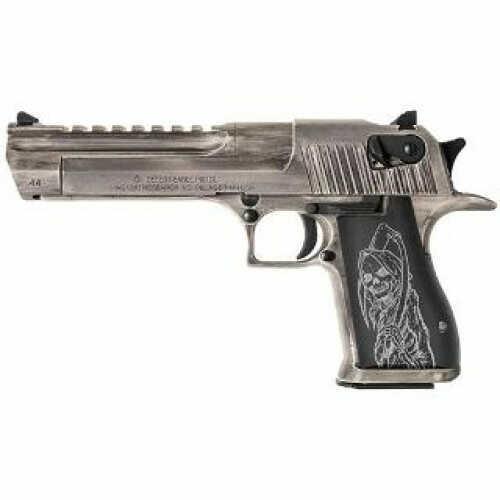 """Magnum Research Desert Research 50 A.E. Semi-Auto Grim Reaper 6"""" Barrel 7- Round Magazine Semi-Auto Pistol"""