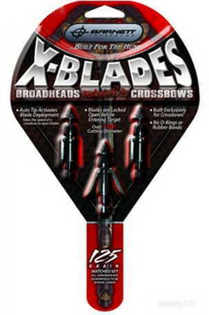 Barnett X Blade Expandable Broadheads-125 Grain 16108