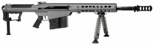 "Barrett Firearms Rifle Barrett M107A1 Rifle 50 BMG 20"" Barrel Tungsten Grey Suppressor-Ready Muzzle Brake"