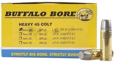 Buffalo Bore Ammunition Heavy 45 Colt 325 Gr Hard Cast LBT-LFN (Per 50) 3A/50