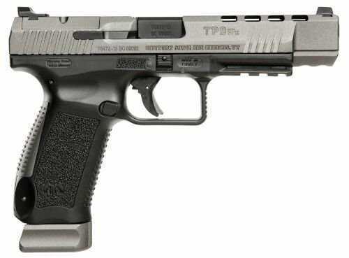 "Century Arms Canik TP9SFX 9mm Luger 5.2"" Barrel 20 Round Fiber Optic Sight Gray Slide Semi-Auto Pistol"