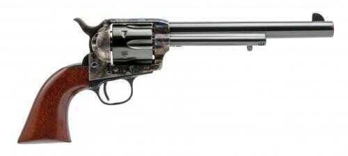 """Cimarron 1873 SAA Model P Revolver BP Frame 7.5"""" Barrel 45 Colt/ACP Dual Cylinder Case Hardened Frame Walnut Grip Standard Blued Finish MP538"""