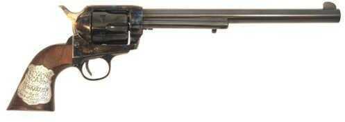 "Cimarron Wyatt Earp Frontier Buntline .45 Colt 10"" Barrel Old Model Case Hardened, Standard Blue Finish Revolver Md: PP558"