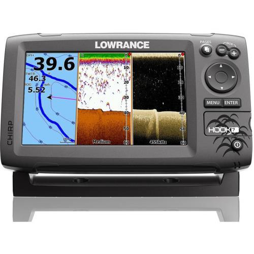 Lowrance Hook-7 Base Mid/High/DownScan Fishfinder-Chartplotter