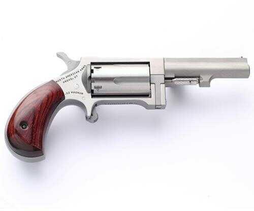 "North American Arms SW250 Mini-Revolver Sidewinder  22 Mag  2.5"" Barrel  5 Round   Stainless Steel  Wood Grip"