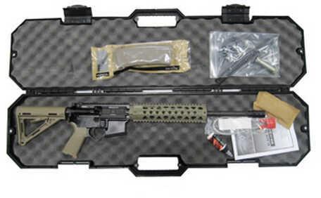 "Black Dawn AR-15 300 AAC Blackout 16"" Barrel Semi -Auto Complete Rifle With Case Carbine Length MFR Rail Flat Dark Earth Gas Piston BDR-15AP-Flat Dark Earth"