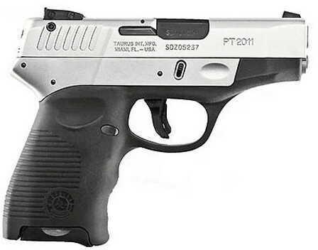 "Taurus PT2011 DT Hybrid 9mm Luger 3.2"" Stainless Steel 13Rd Pistol 1110903913"