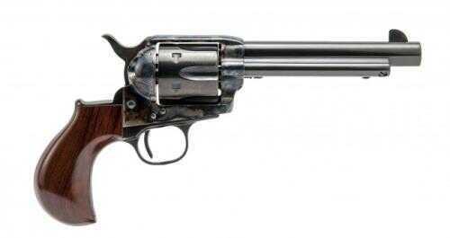 """Cimarron Thunderer Revolver 357 Magnum 5-1/2"""" Barrel Case Hardened Frame 1-Piece Walnut Smooth Grip Standard Blued Pistol"""