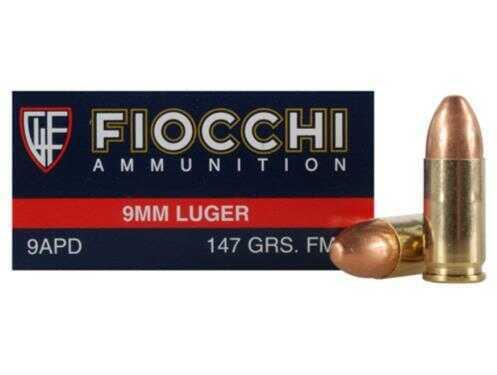 Fiocchi Ammo 9MM 147 Grains FMC Ammunition 9APD
