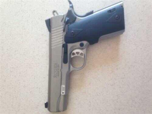 """Pistol Ruger SR1911 Commander 45 Acp 4.25"""" Barrel Black CT Grips Stainless Steel Frame"""