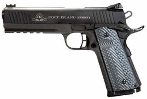 "Rock Island Armory M1911-A1 45 ACP 5"" Barrel 8 Round VZ Tactical Grips Semi Automatic Pistol 51485"