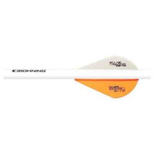 Bohning Archery Bohning Blazer Shrink Fletch Neon Orange/White 101001NO