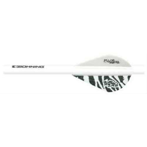 Bohning Archery Bohning Blazer Shrink Fletch White Tiger/White 101001WT