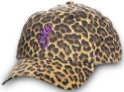 Browning Ladies Cap Safari Leopard / Purple Md: 308343921