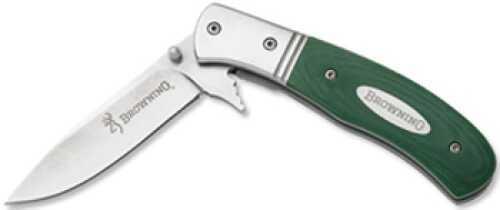 Browning Folding Knife 772B Fast Task Grn G-10 Md: 322772B