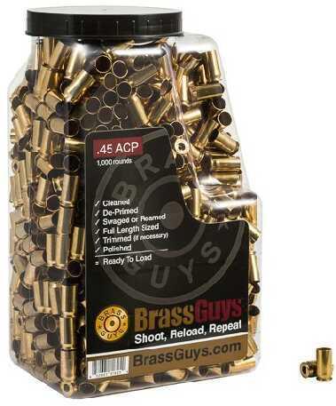 BrassGuys 45 ACP Brass Remanufactured 1000 Pcs Retail Jug