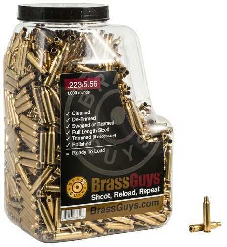BrassGuys 5.56 Nato / 223 Rem Brass Remanufactured 1000 Pcs Retail Jug