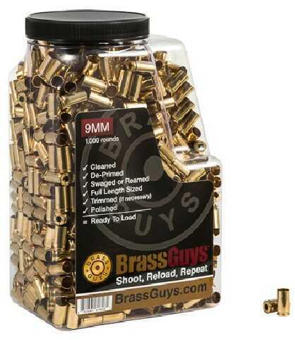 BrassGuys 9 mm Brass Remanufactured 1000 Pcs Retail Jug
