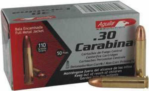 Aguila 30 Carbine 110GR FMJ 50RDS 1E302110