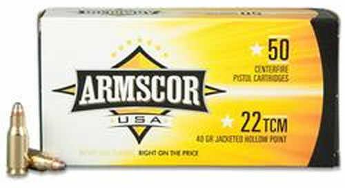 Armscor Precision Inc ARMSCOR Ammo 22TCM 40Gr JHP 50Rd/Box (20) FAC22TCM1N