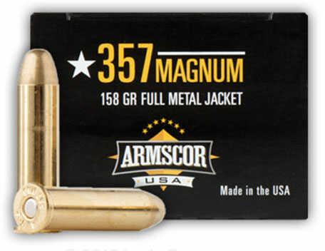 Armscor Precision Inc Armscor Ammo 357 Magnum FMJ 158Gr 20 Rounds